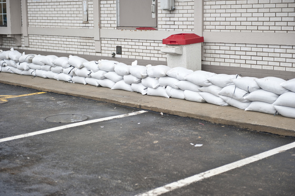 Sandbags can be the last defense against flood waters.